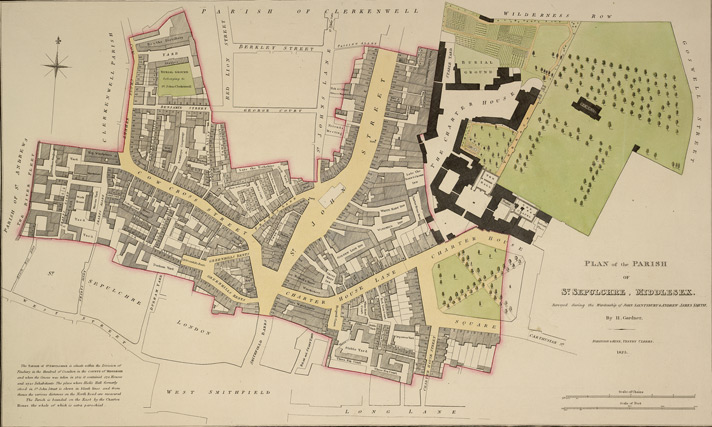 Plan of the parish of St Sepulchre, Middlesex